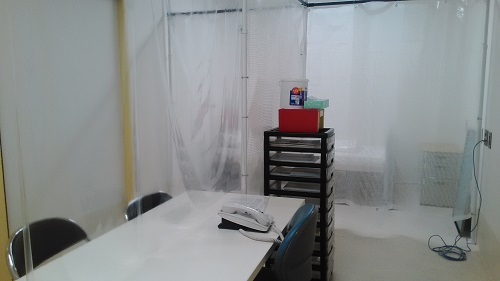 臨時の外来診察室
